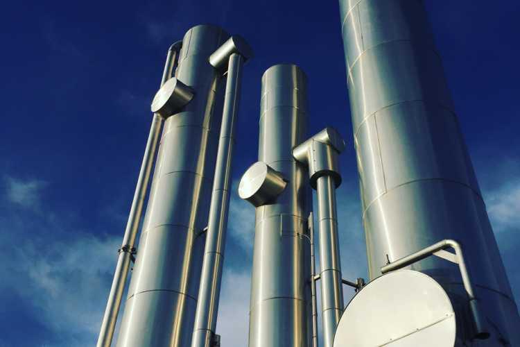 Uppgraderingsanläggningen på Biogas Brålanda.