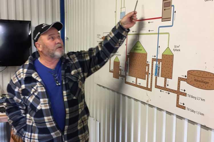 Gunnar Gustavsson, en av lantbrukarna som förser Biogas Brålanda med biogas.